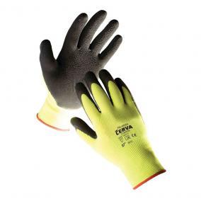 Védőkesztyű mártott PALAWAN nylon latex sárga  - 9
