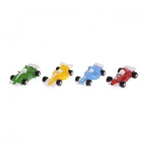 Versenyautó poly 6,5cm zöld,sárga,kék,piros [4 db]