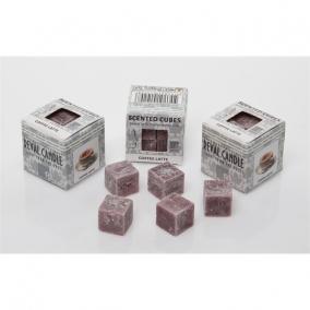 Viasz kocka illatos 3x3x3cm kapucsínó (8db/csom)