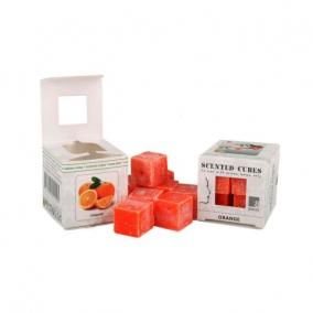 Viasz kocka illatos 3cm x 3cm x 3cm narancs [8 db]