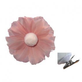 Virág csipeszes toll 10cm barack [3 db]