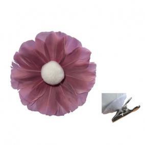Virág csipeszes toll O 10cm rózsaszín [3 db]