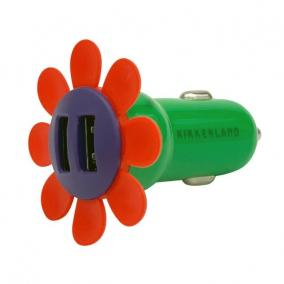 Virág formájú autós töltő, 2 USB csatlakozóval