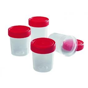Vizeletpohár fedeles műanyag steril 125ml [min: 25db]
