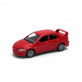 Welly Mitsubishi Lancer Evolution VIII piros kisautó, 1:60-64