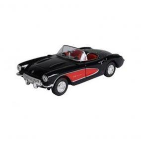 Welly Chevrolet Corvette 1957 fekete kisautó, 1:24