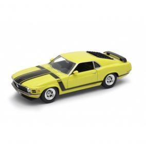 Welly Ford Mustang Boss 302 sárga kisautó, 1:24