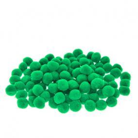 Zsenília golyó műszál 2cm sötét zöld [100 db]