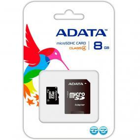 Adata microSDHC 8 GB Class 4 memóriakártya + adapter