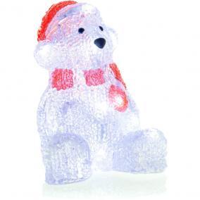 Világító akril medve, 16 LED, hideg fehér, Retlux RXL 252