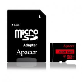 Apacer memory card Micro SDHC 16GB Class 10 UHS-I (up to 85MB/s) +adapter