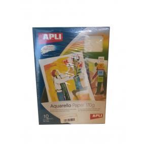APLI Aquarello tintasugarasA4 170gr 10 lap
