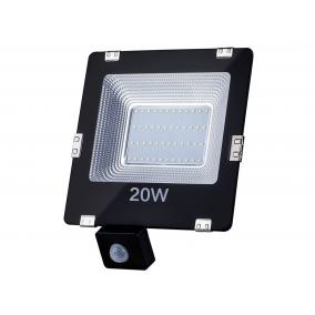 ART fényvető / reflektor LED mozgásérzékelővel 20W, SMD, IP65, AC80-265V, 4000K-fehér
