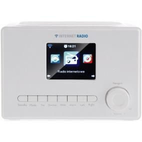 ART X102 internet Wi-Fi rádió, színes LCD kijelző, fehér