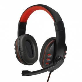 ART Nemezis gaming fejhallgató mikrofonnal, fekete-piros