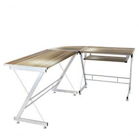 Íróasztal L-alakú, barna