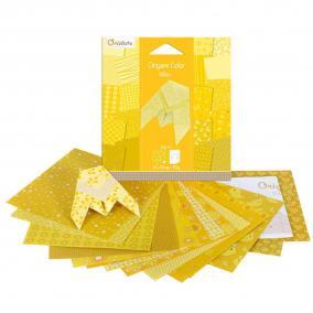 Avenue Mandarine  42680O Origami papír, 12 cm x 12 cm, Citromsárga