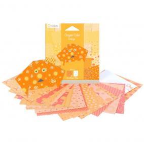 Avenue Mandarine  42681O Origami papír, 12 cm  x 12 cm, Narancssárga
