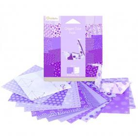 Avenue Mandarine  42684O Origami papír, 12 cm  x 12 cm, Lila