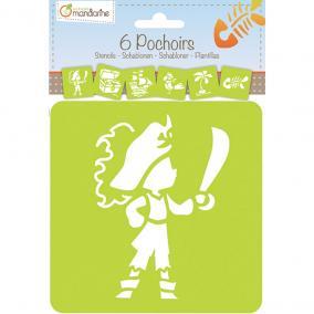Avenue Mandarine  42837O Sablon készlet (6db) - Kalóz