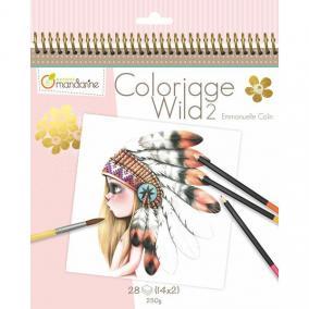 Avenue Mandarine  GY068C 28 db-os színezhető album - Wild2
