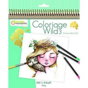 Avenue Mandarine  GY077C 28 db-os színezhető album - Wild3