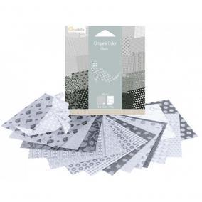 Avenue Mandarine 42687O  Origami , 12 cm  x 12 cm, Feketés Fehér
