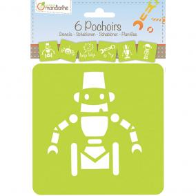 Avenue Mandarine 42841O 6 Sablon készlet,Robotok