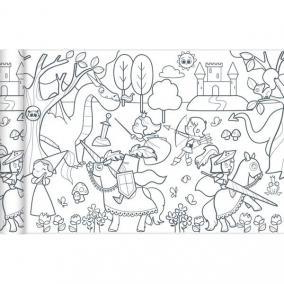 Avenue Mandarine GY080C Színezőtekercs - hercegnők és lovagok