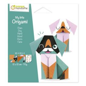 Avenue Mandarine OR509C Én kis origami kutya, 12 cm  x 12 cm, 20 sheets, 70g