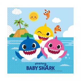 Baby Shark: 20 darabos szalvéta - 30cm  x 30 cm