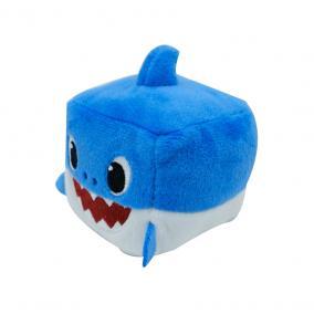 Baby Shark Zenélő kockaplüss - Apa cápa