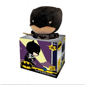 Batman 300 darabos 3D puzzle plüss játékkal