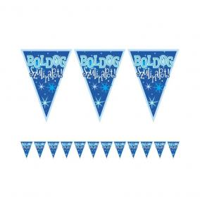 Boldog Szülinapot! Kék Fiús Zászlófüzér - 5 m