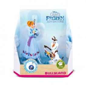 Bullyland 12938 Disney - Jégvarázs Olaf kalandjai: Anna és Olaf medállal játékszett