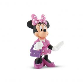 Bullyland 15328 Disney - Mickey egér játszótere: Minnie táskával
