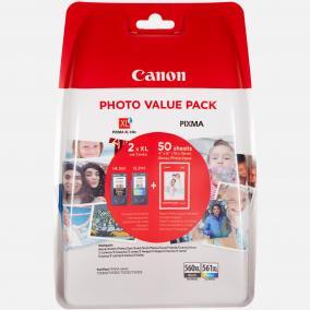 Canon PG-560 [BK XL] + CL-561 [Col XL] [50db 10x15 papír] tintapatron (eredeti, új)