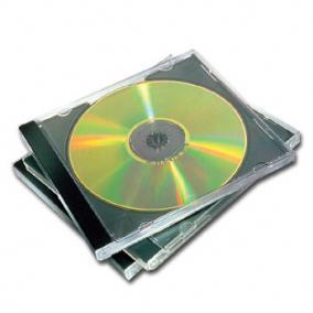 CD-tok, normál, 1 lemez, FELLOWES, black