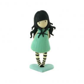 Comansi Gorjuss - Zöld ruhás játékfigura