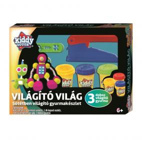 Creative Kids Kiddy Dough gyurmagyár, sötétben világító gyurmakészlet