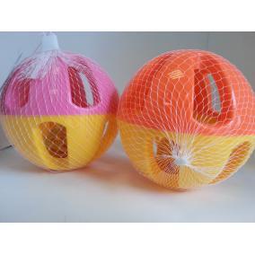 Csörgős labda sárga-rózsaszín