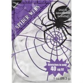 Dekorációs Pókháló, Fehér, 28 gramm