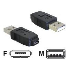 Delock 65029 adapter, USB micro-A+B (F) -> USB2.0-A (M)