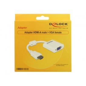 DELOCK 65346 Delock adapter, HDMI (M) -> VGA (F)