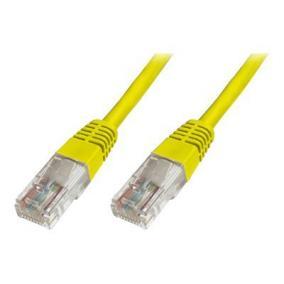DIGITUS DK-1512-005/Y Digitus Premium CAT 5e UTP patch kábel, hossza: 0.5m, sárga
