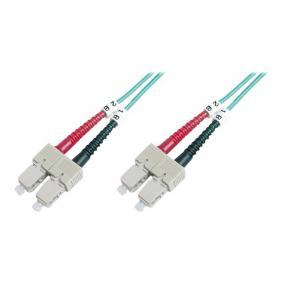 Digitus DK-2522-02/3 üvegszálas optikai patch kábel, SC / SC 2m OM3, Kék