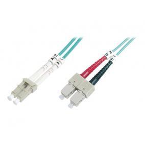 Digitus DK-2532-02/3 üvegszálas optikai patch kábel, LC / SC 2m OM3, Kék