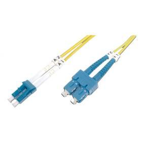 Digitus DK-2932-01 üvegszálas optikai patch kábel, duplex SM 9/125 LC / SC 1m, Sárga