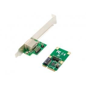 DIGITUS DN-10133 Gigabit Ethernet mini PCI Express Card single lane low profile bracket Realtek chipset