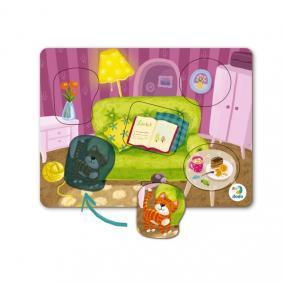 Dodo Bébi puzzle 5 db-os Nappali